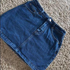 Cute Dark Denim Mini Skirt